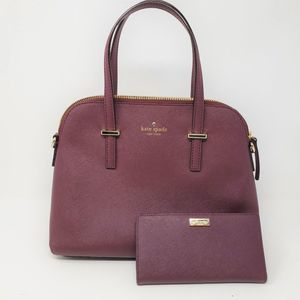 Kate Spade Cedar Street Crosshatch Maise Satchel